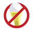 No ice-cream sign — Stock Vector #11857073