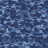 Military blue camouflage — Stock Vector
