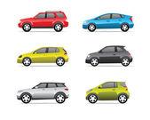 Icônes de voitures set 1 — Vecteur