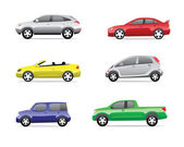 Cars icons set 2 — Stock Vector