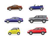 Icônes de voitures set 3 — Vecteur
