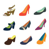 Women shoes collection part 2 — Stock Vector