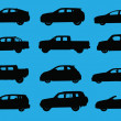 Cars silhouettes part 4 — Stock Photo