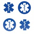 Medical star symbols - Stock Vector
