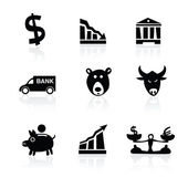 Banking icons hand drawn part 1 — Stock Vector