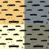 City cars seamless pattern — Stock Vector