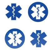 Medical star symbols — Stock Vector