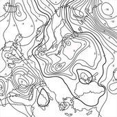 Mapa znázorňující zemi teplota toku — Stock vektor