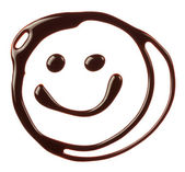 Smiley face made of chocolate syrup — Stok fotoğraf