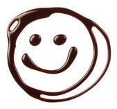 çikolata şurubu yapılmış gülen yüz — Stok fotoğraf