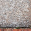 Compressed wood and brick grunge wall — Stock Photo #12249451