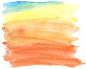 Abstract colorful watercolor brush strokes, may be used as background — Stock Photo