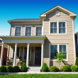 Brand New Suburban American Dream Home — Stock Photo