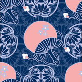 Oriental - Japanese - Seamless Pattern — Stock Vector