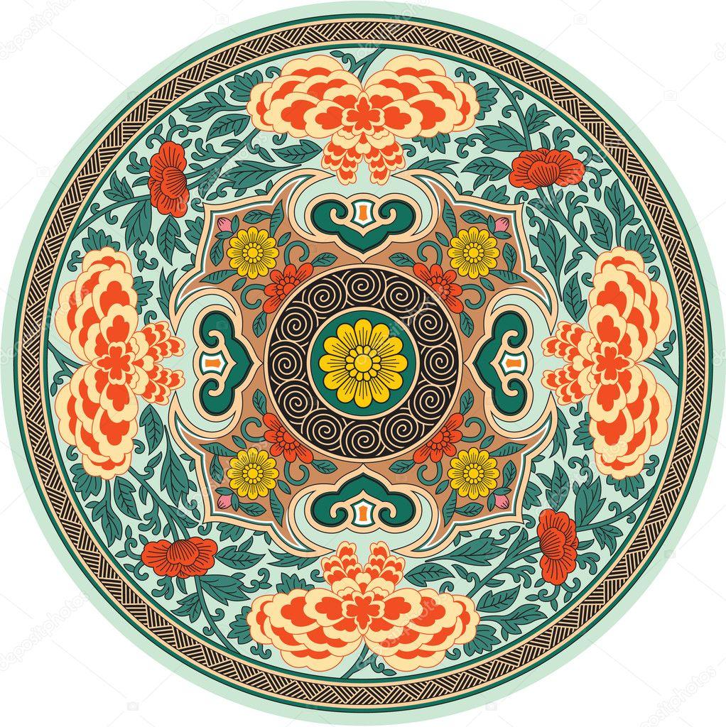 Chinese Flower Pattern Chinese Traditional Pattern
