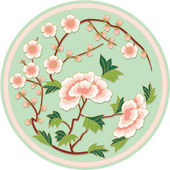 Chinese Traditional Floral Pattern — Stock Vector