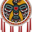 Native AmericDrum with Eagle — Vector de stock #11614998