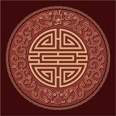 Oriental Feng Shui Pattern — Stock Vector