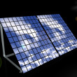 3d solar panels - Stock Photo