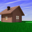 Stock Photo: Home on field
