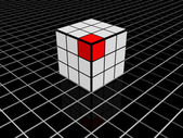 3d composition of cubes — Stock Photo