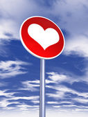 Love sign for traffic — Stock Photo