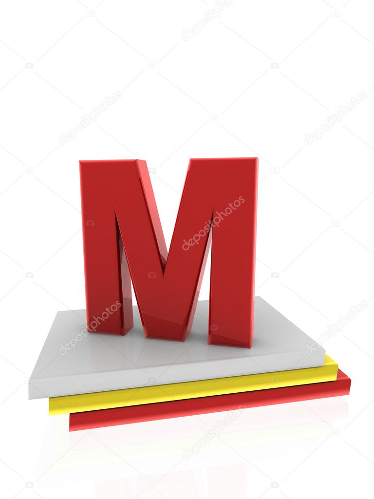 Letter M on books — Stock Photo #11193274