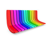 3d rainbow couch — Stock Photo