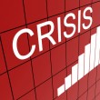 Graph for crisis on wall — Stock Photo