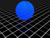3D mavi Küre — Stok fotoğraf