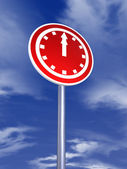 Clock sign for traffic — Stock Photo