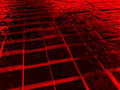 Surface with red cubes made of ice — Stock Photo