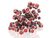 Señal servicio en cubos — Foto de Stock