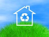 Casa ecológica en espacio natural — Foto de Stock