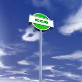 Eco traffic sign — Stock Photo