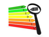 Chart with energy classification — Stock Photo