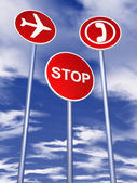 Signs for traffic — Stock Photo