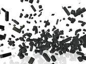 взорвалась металлических конструкций — Стоковое фото