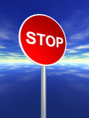 Stop sign for traffic — Stock Photo