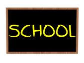 Szkoła na tablicy — Zdjęcie stockowe