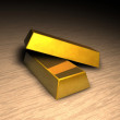 Two gold bars on floor — Stock Photo #11505447