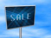 Digital billboard with sale — Stock Photo