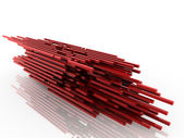 3d red structure — Stock Photo