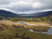 River Dee area, west of Braemar, Scotland. — Stock Photo