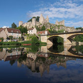 Angles-sur-Anglin, Vienne , France — Stock Photo