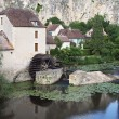 Stock Photo: Watermill, Angles sur Anglin, France