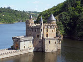 Chateau de la Roche, Saint Priest la Roche, France — Stock Photo