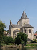 Jazeneuil 12th century romanesque church, France — Stock Photo