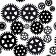 Royalty-Free Stock Vector Image: Seamless gear and cogwheel background on black background