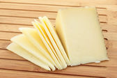 Wedge of cheese cut — Stock Photo